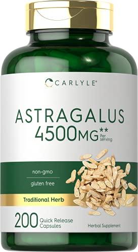 Astragalus Root Capsules 4500mg | 200 Count | Vegetarian, Non-GMO,...