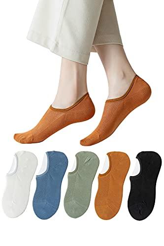 靴下 レディース 5足組 ソックス 脱げない 通気性 浅履き くるぶし コットン 靴から見えない カジュアルタイプ スニーカー ショートソックス