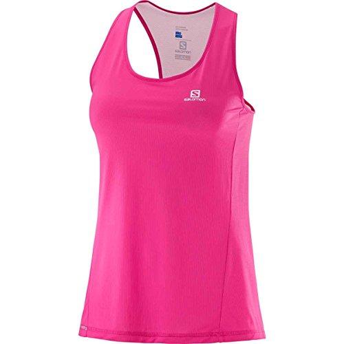 Salomon Damen Sport-Tank Top, AGILE TANK W, Synthetik-Mischgewebe, Pink, Größe: M, L40210900