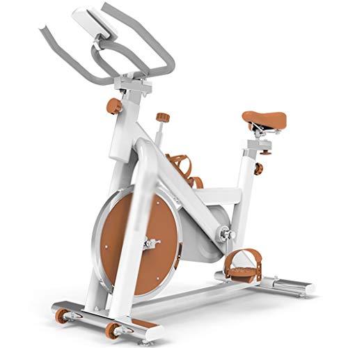 YHRJ Bicicleta de Entrenamiento silenciosa para Ejercicio,Bicicleta de Spinning Ajustable con frecuencia cardíaca,Bicicleta de Ciclismo en casa,Puede soportar 120 kg