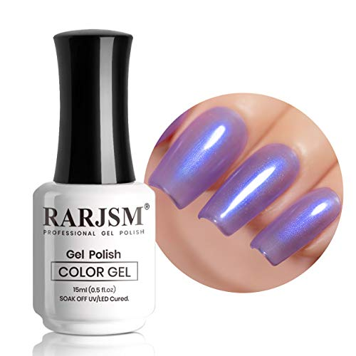RARJSM Pearl Gel Nail Polish 15ML Lavender Gel Polish UV LED Nail Lamp Required Quick Dry Shell Shiny Nail Gel Polish Varnish for Nail Starter