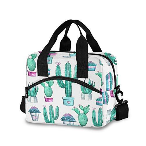 Mnsruu Tropischer Kaktusbaum, Lunchbox, Kühltasche, wiederverwendbar, Schultertasche, isolierte Lunchbox für Outdoor, Picknick, Bootfahren, Arbeit, Schule