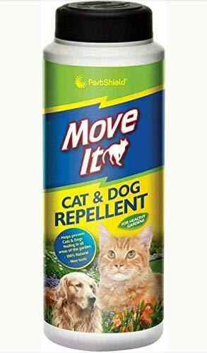 Repelente de gatos y perros 240 G. Repelente de animales. Tratamiento humano, disuasorio para jardines. 100% natural y no tóxico