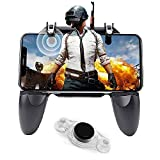 【ERGONOMIC CONTROLLER & PHONE SECURE LOCKED IN PLACE】: People may get hands cramps after playing hours of battle royal games with cellphone. DELAM gamepad is specially designed for mobile shooting games, it extends your phone into a traditional Xbox ...