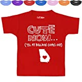 Cute Now Toddler Georgia T-Shirt 'Til My Bulldog Comes Out Kids State Shirt Top Pick Color 2T-6T (Red, 4T)