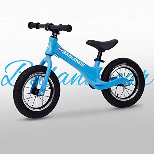 ZTIANR Balance De Niños para Bicicleta para 2~6 Edad De Los Niños del Niño De La Bici Completa Aprender A Montar,Azul