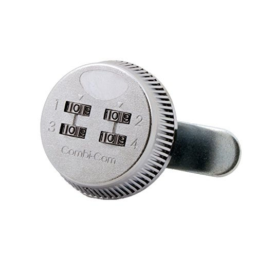 """Combi-Cam 7803S 4-Dial Combination Cam Lock with 5/8"""" Cylinder and Chrome Finish - Pack of 10"""