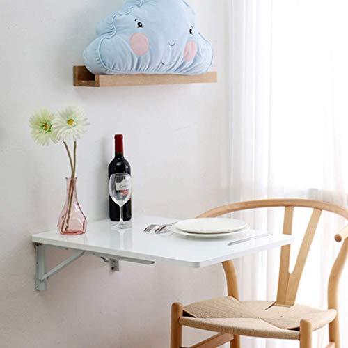 Mesa de comedor y cocina montada en la pared, escritorio para niños plegable de madera maciza de hoja abatible, escritorio para computadora de estación de trabajo de oficina, escritorio con caballete