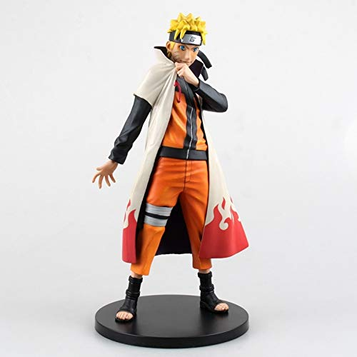 Liiokiy 25 cm Figura de acción Naruto Shippuden Uzumaki Naruto Figura Anime Figura Coleccionable Figura Decoración Arte Regalo Juegos Anime Animación Personaje Modelo Modelo Hecho A Mano Modelo Juguet