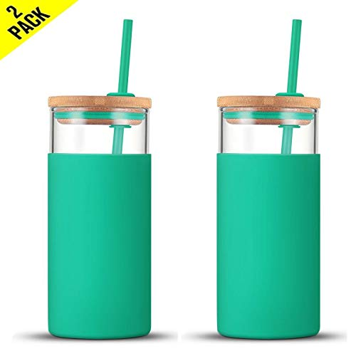 Tronco 20oz Glass Tumbler Straw ...