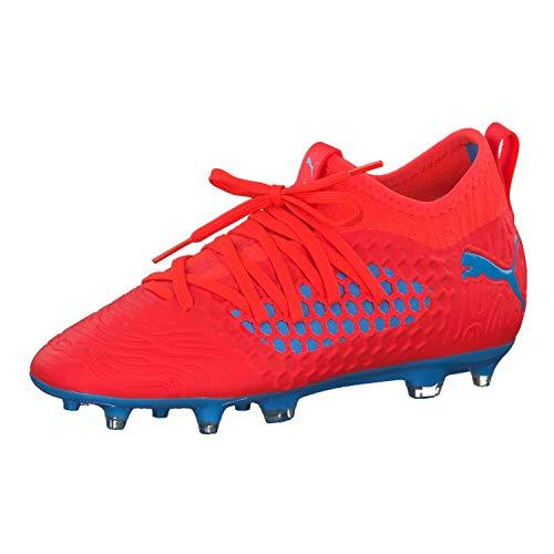 Puma - Future 19.3 Netfit FG/AG Jr, Zapatillas de Fútbol Unisex Niños, Rojo (Red Blast-Bleu Azur 01), 38 EU