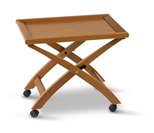 Arredamento Italia salontafel BILLY, hout - inklapbaar - afneembaar dienblad - kleur: kersenhout