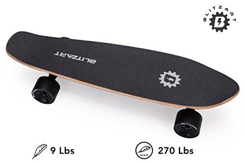 Blitzart Mini Flash 28' Electric Skateboard Electronic Hub-Motor 2.8' Wheel E-Skateboard (Red)
