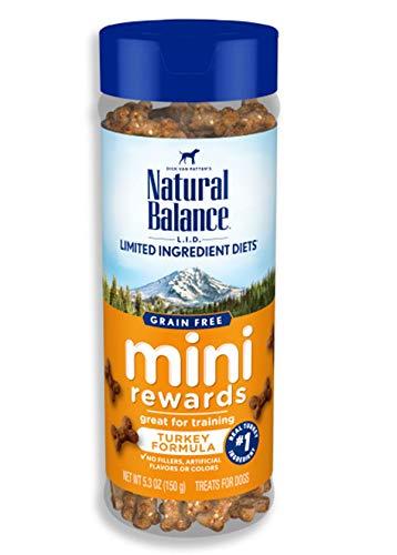 Natural Balance L.I.D. Limited Ingredient Diets Mini Rewards Dog Treats, Turkey Formula, 5.3 Ounce Canister