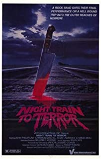 ArtFuzz Night Train to Terror Movie Poster Print