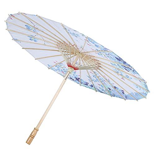 Parapluie artisanal, parapluie en soie de style chinois avec manche en bois, parapluie de décoration de plafond pour les fêtes de mariage, costumes, cosplay, va avec n'importe quelle tenue(57x84cm-04)