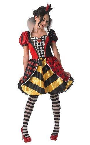Rubies Disfraz Oficial de Disney Alicia en el país de Las Maravillas para Mujer, Disfraz de Reina roja, pequeño