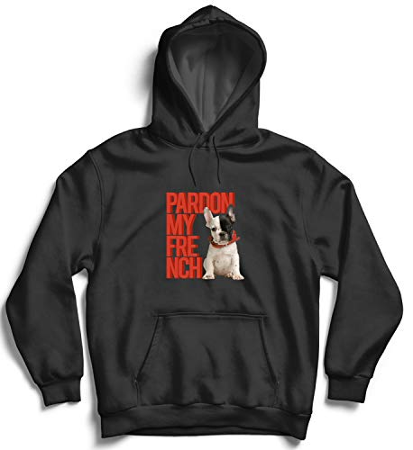 French Bulldog Dj divertente Unisex Full zip Felpa con cappuccio-Bulldogs DIVERTENTE REGALO DOG