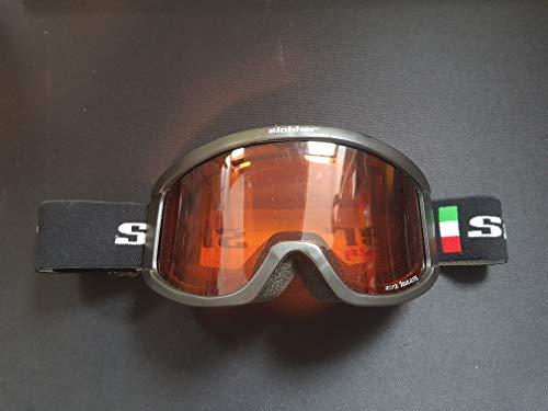 Geschenkidee Slokker Skibrille schwarz in Italien Style mit rot - orangenen Gläsern