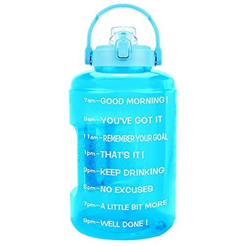 ZZDH Botella de Agua Deportiva 2.5L 3.78L Sport Sport BOUSH sobre EL HOLDO MÓVIL MÓVIL DE GALON Botas DE Agua BPA Jarras al Aire Libre Gratis Adecuado para Fitness, Deportes al Aire Libre