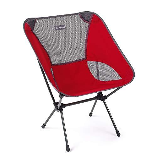 Helinox Chair One Large | Der Originale Chair Large bleibt die ultimative Kombination aus Komfort, Leichter Verstaubarkeit und raffiniertem Design (Scarlet)
