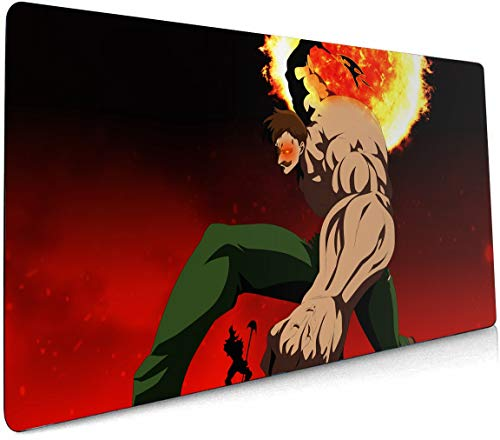 The Seven Deadly Sins Mouse pad Laptop Large Desk mat Keyboard pad The Seven Deadly Sins playmat Anime Gaming Mouse pad 403 (90cm×40cm)