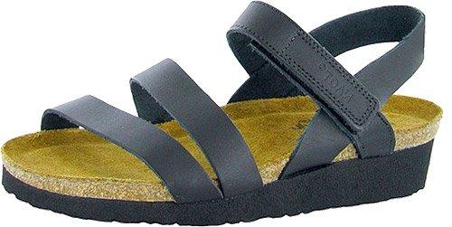 NAOT Footwear Women's Kayla Sandal Black Matte Leather 9 M US