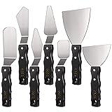 Fransande - Juego de 7 cuchillos de pintura para paleta y espátula, espátula, espátula, cuchillo, herramientas para suministros de mezclas de colores