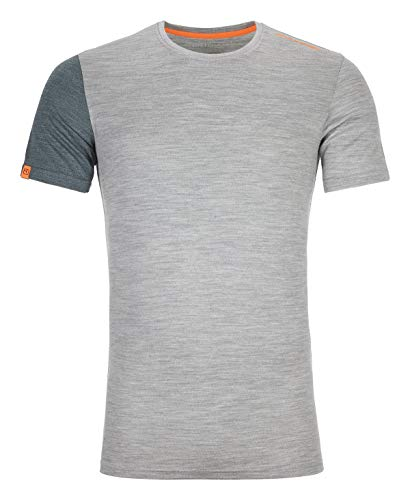ORTOVOX Herren 185 Rock'n'Wool Short Sleeve, Grey Blend, L