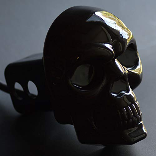 """Skull Hitch Cover Black 6529 LED Tow Hitch Light Cover Fits 2"""" & 1-1/4"""" Both"""