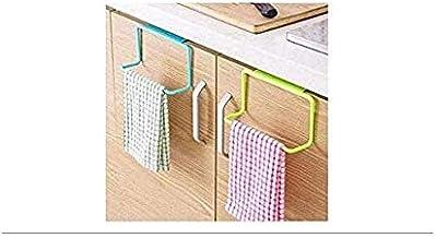 QRSLHYA Door Tea Towel Rack Bar Hanging Holder Rail Organizer Bathroom Cabinet Cupboard Hanger Kitchen Accessories (Assorted)