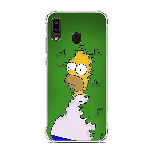 Transparent Slim Liquid Flexible Fundas Soft Case Back Cover for Samsung Galaxy A10e/A20e-Funny Homer-Simpson 3