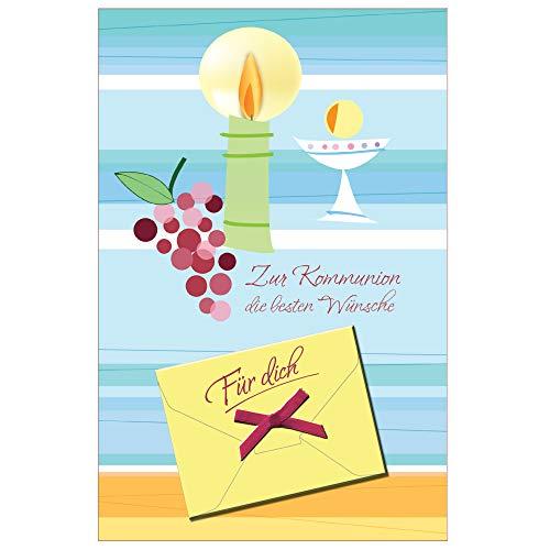 Susy Card 40024837 Bankbiljettenkaart communie, kleine symbolen kaars