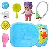GOTOTOP Juego de Juguete Variable para niños con baño de muñeca para niños con Spray de bañera ABS Color Aleatorio Juguete de baño Lindo niña pequeña (12.6 × 8.1 × 2.8 Pulgadas)