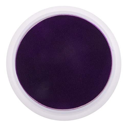 Hellery Sellos Redondos de Almohadillas de Tinta de 15 Cm para Niños, Manualidades para Pintar con Los Dedos - Púrpura