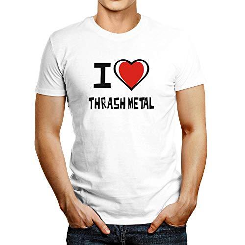 Idakoos I Love Thrash Metal Bicolor Heart Camiseta
