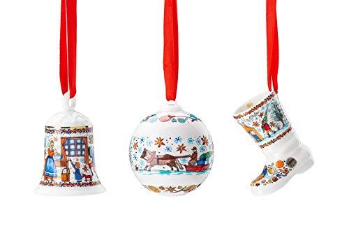 Hutschenreuther Glocke + Kugel + Stiefel 2020 Weihnachtsbäckerei Porzellan Weihnachten -