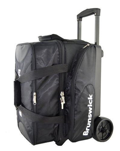 Brunswick Flash X Double Tote Bowling Bag – Schwarz