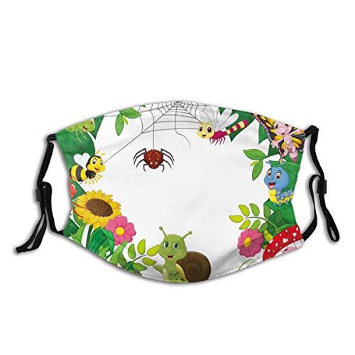 Copertura del fronte Bruchi comici Dragonflie comici di insetti delle farfalle degli insetti Filtro antirumore regolabile per bocca antipolvere