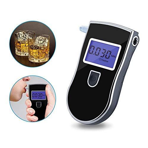 BIGMALL Llavero Alcoholímetro (Negro) | Probador De Alcohol Ultraportátil para Uso Personal