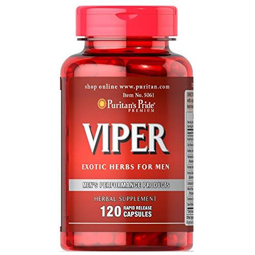 Puritan's Pride Viper Exotic Herbs for Men, 120 Capsules by Puritan's Pride, 120 Count
