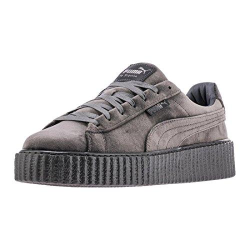 PUMA Mens Fenty by Rihanna RiRi Gray Creeper Velvet 36463903 Sneakers Shoes 12