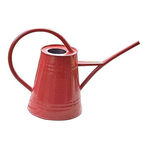 Asvert Watering Can Fashion Rustic Retro Textured Gardening Tools Long spout 2.2L/74oz(Red)