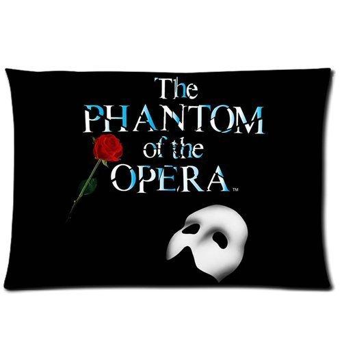 xdbgdfhdhdjdj Funda de almohada con diseño de rosas con texto en inglés 'The phantom of the opera' (40 x 60 cm)