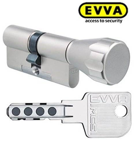 Cerradura antibumping EVVA MCS de doble cilindro