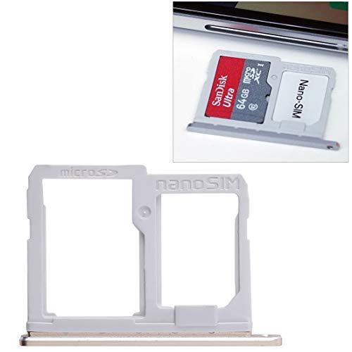Fijar Las Piezas del teléfono renovar Bandeja de Tarjeta SIM + Accesorio de Bandeja de Tarjeta Micro SD para LG Q6 / M700 / M700N / G6 Mini (Size : Sim+Micro SD Card Tray (Gold))