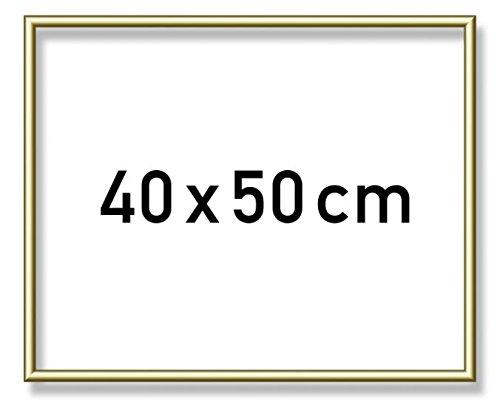 Schipper  605110710 - Malen nach Zahlen - Alurahmen 40 x 50 cm, goldglänzend ohne Glas für Ihr Kunstwerk, einfache Selbstmontage, Gold