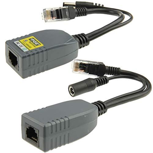 GHFPCASE per 2 PCS 904, 4 cavi Power Over Ethernet Passivo Kit adattatore for iniettori POE Splitter for sistema di sicurezza telecamera IP