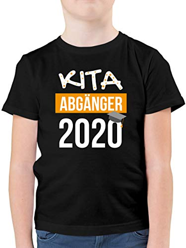Einschulung und Schulanfang - Kita Abgänger 2020-128 (7/8 Jahre) - Schwarz - Kita abgänger 2019 schulanfänger - F130K - Kinder Tshirts und T-Shirt für Jungen