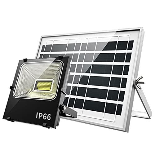 WKZ Foco Solar Proyector con Control Remoto 1400W 2000W 3000W 3500W,Luces Solares Jardin A Prueba De Agua ,Sistema De Carga PWM Lamparas Solares Exterior(Size:3500W,Color:680 Lamp Beads)